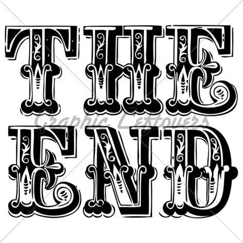 google s design guidelines spell the end of days for vector vintage the end lettering jpg 500 215 500 pixels