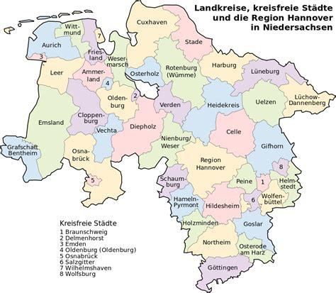 städtekarte deutschland landkreise niedersachsen andreas polle vereidigter