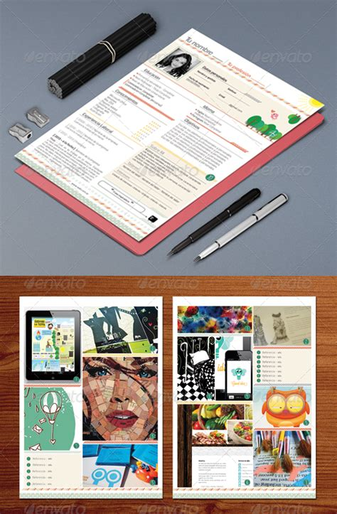 curriculum vitae colorful and clean graphicriver