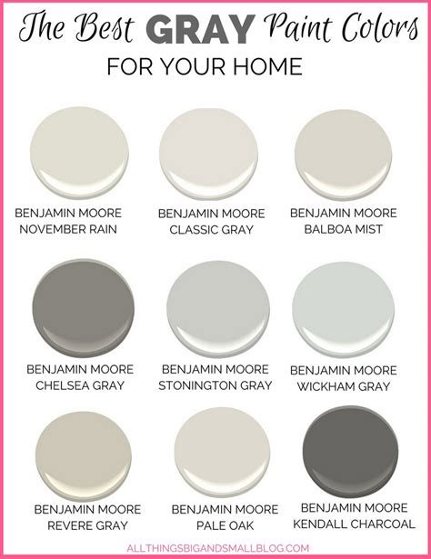 Best Grey Paint Colors | gray paint colors for your home best benjamin moore