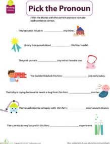 get into grammar pick the pronoun worksheet education com