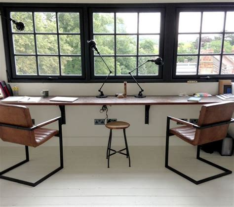 industrial style home office desk best 25 industrial office chairs ideas on