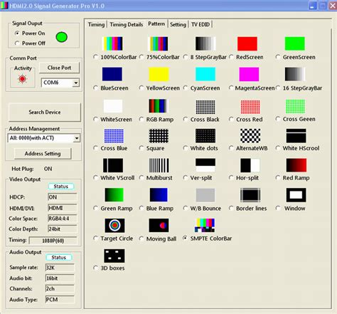 test pattern generator tv marshall electronics v sg4k hdi 4k hdmi compact