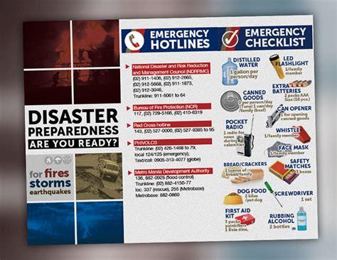 Disaster Preparedness Brochure On Behance Emergency Preparedness Brochure Template