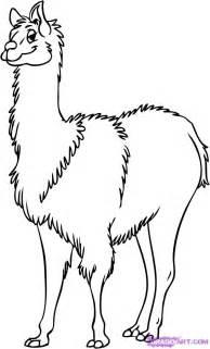 How To Draw A Cartoon Llama Step 6 sketch template