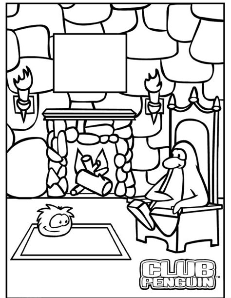 Onr Template Club Penguin Printable Coloring Pages Coloring Home