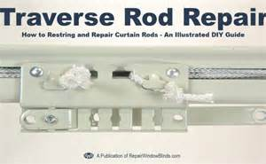 traverse curtain rod slides how to restring a drapery traverse rod repair window blinds