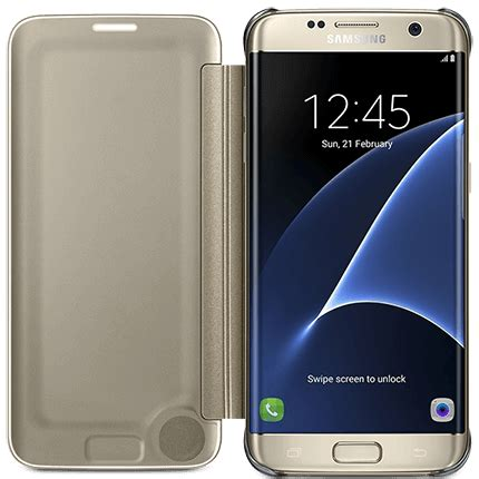 Samsung Galaxy S7 Edge Sticker Transparant samsung galaxy s7 edge clear view cover accessories from o2
