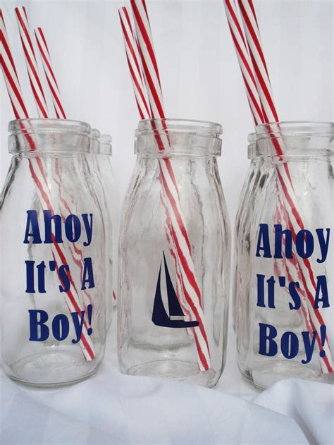 design your own milk bottles 12 diy nautical baby boy shower milk bottle drink recycled