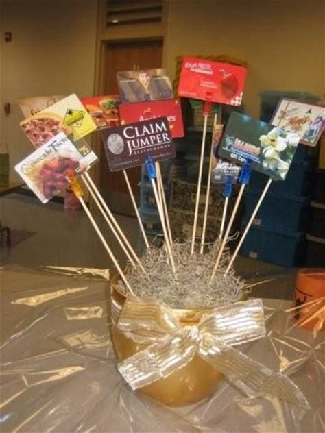 Gift Card Raffle Display - creative ways to display gift cards raffle basket gift cards gala pinterest