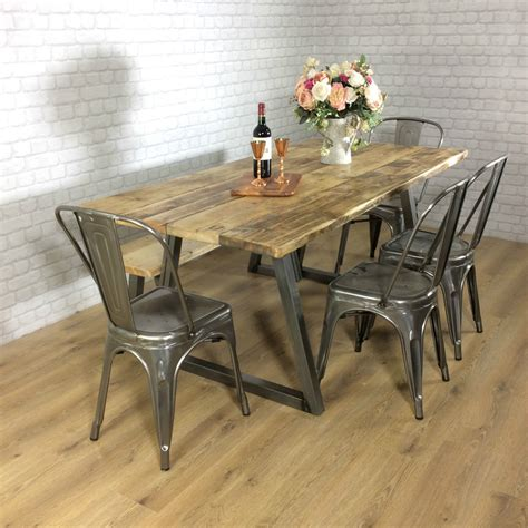 rustic reclaimed wood dining table industrial rustic calia style dining table vintage