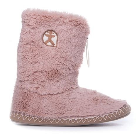 marilyn tpr classic faux fur slipper boots gingerbread for