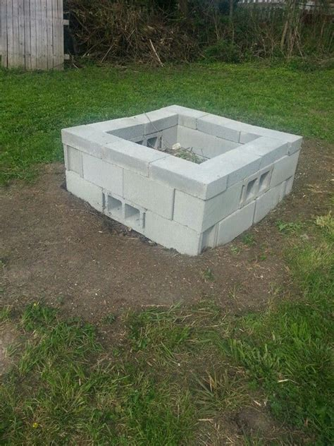 cinder block firepit 25 best ideas about cinder block pit on