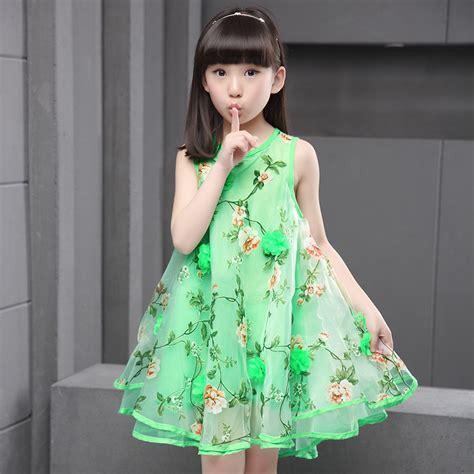 Dress Fashion Flower 4 2018 summer fashion dress lace flower gown sleeveless dresses baby