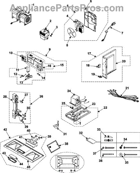 samsung microwave parts diagram samsung de60 20066a bolt appliancepartspros