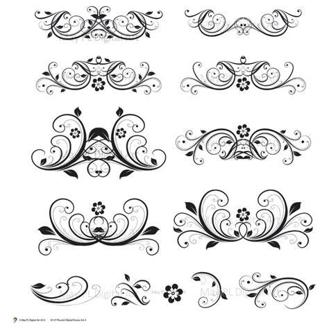 Wedding Flourish Clipart by Digital Clipart Flourish Swirl Vector Vintage Flower Diy