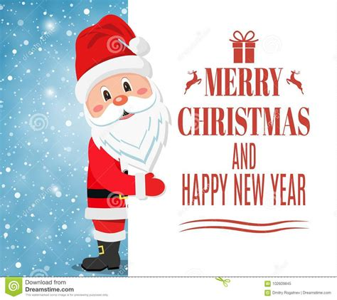 happy new year essay santa claus showing merry stock vector