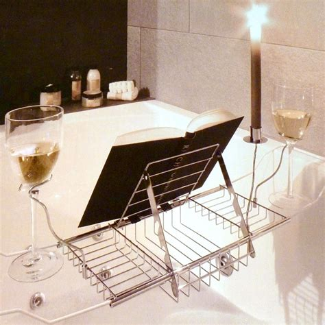 bathtub book rack adjustable bath rack book stand bathtub shelf tray glass