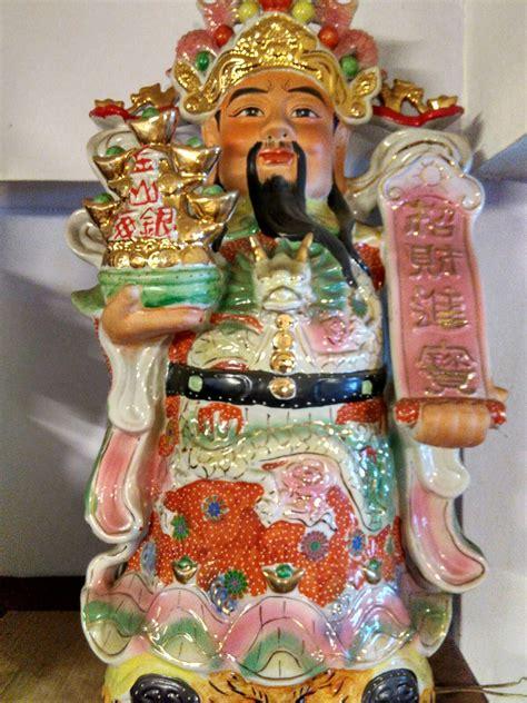 Lu Proji Untuk Fu jual patung dewa keberuntungan keramik 29x66cm