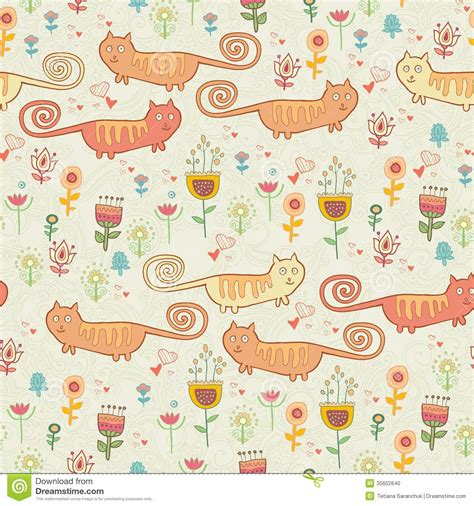 cute pattern cats cute cat pattern childish seamless cartoon wallpaper