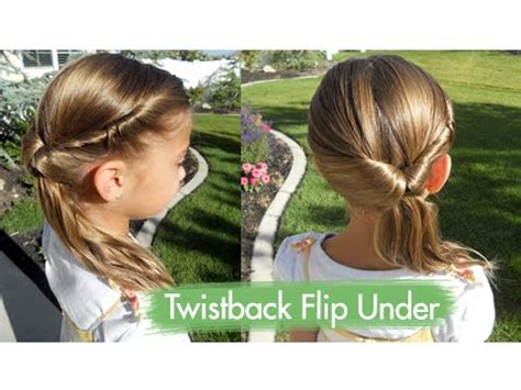 back to school hairstyles for kindergarten twistback flip under cute girls hairstyles youtube