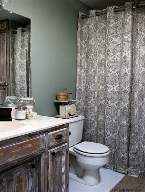 Bathroom Makeover Cost by In Makeovering Low Cost Rustic Bathroom Makeover
