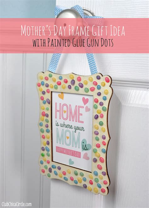 craft gift for s day frame with enamel dots free