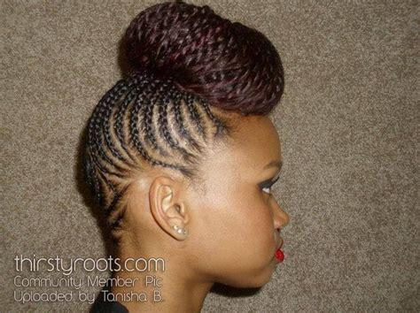 cornrow and twist hairstyle pics cornrow twist updo fabulous flat twist pinterest
