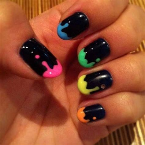 colorful nail black colorful nails pictures photos and images for