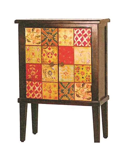 Decoupage Cupboard Doors - high cabinet with 2 doors decoupage mango fabindia