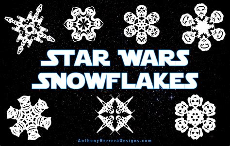 printable star wars snowflake patterns snowflakes archives amy s wandering