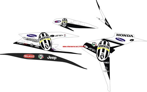 Sticker Striping Motor Stiker Honda Cs1 Juventus Hitam Putih Spec A 2 cutting sticker vario cbs 125 suzuki cars