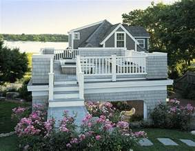 cottage roof deck portico style deck