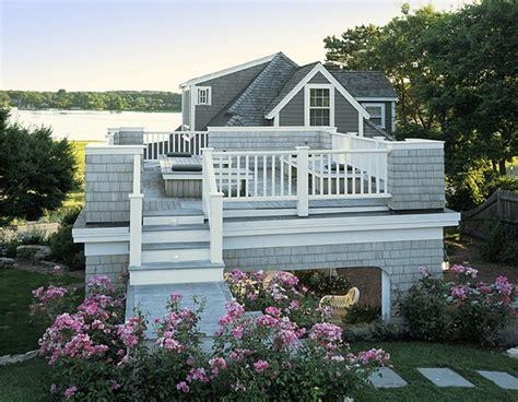 Cottage Deck Designs by Cottage Roof Deck Portico Style Deck