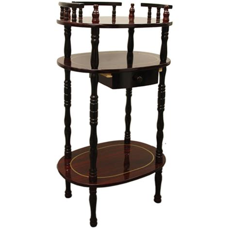 knob hill tall side table antique cherry walmart com osp designs knob hill multi tiered telephone table