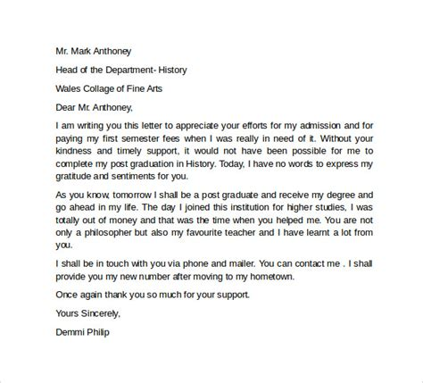 appreciation letter student appreciation letter best letter exles