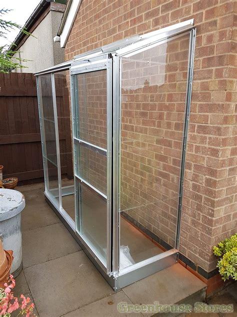 halls wall garden lean  greenhouse toughened
