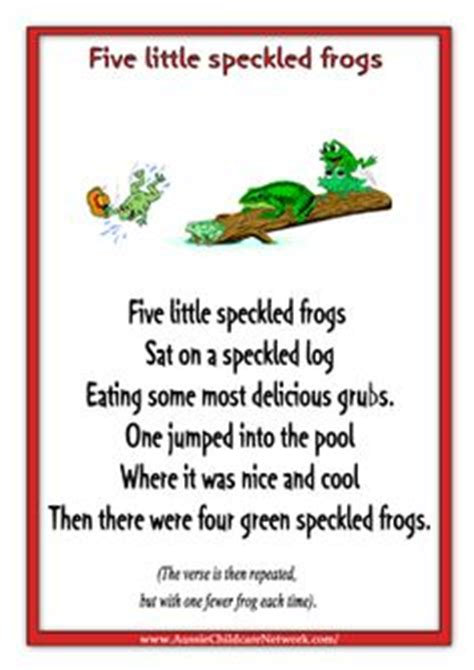 printable free nursery rhymes 1000 images about book five green speckled frogs on