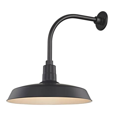 Outdoor Gooseneck Lighting Barn Light Outdoor Wall Light Black With Gooseneck Arm 18 Quot Shade Bl Arml Blk Bl Sh18 Blk