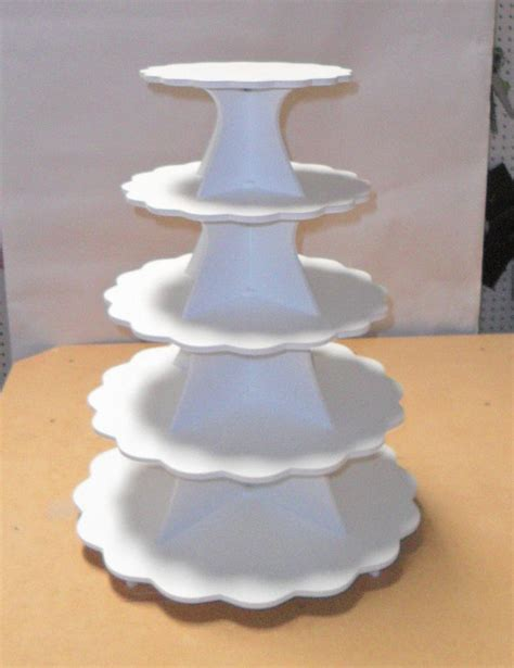 items similar to 5 tier cake cupcake stand pvc on etsy