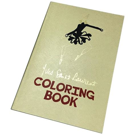 coloring book yves laurent yves laurent gold saffiano leather bound coloring