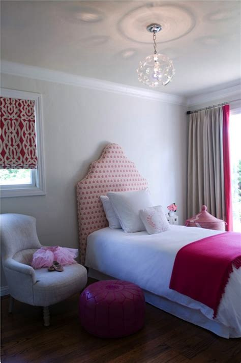 pink and grey girls bedroom pink curtains design ideas