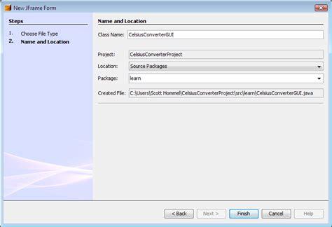 oracle java swing tutorial v1study java thiết lập dự 225 n celsiusconverter