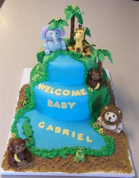 Safari Cakes Baby Shower by Safari Cakes Decoration Ideas Birthday Cakes