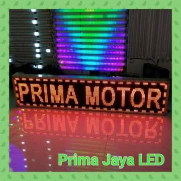led display running teks 165 x 37 merah prima jaya led