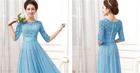 Baju Setelan Wanita Blue Elegance Lace M Murah Original stylishca dress murah bridesmaid dulang baju tunang