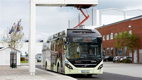 volvo  abb inaugurate charging station  electric buses based  oppcharge
