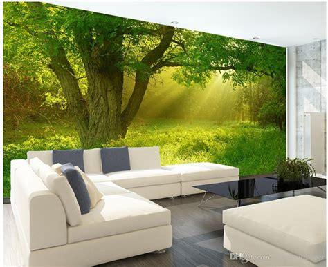 custom  beautiful stereo nature jungle tv wall mural