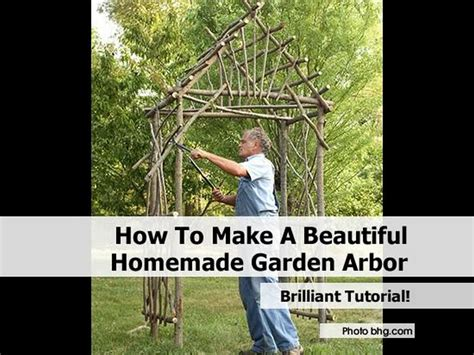 how to make a beautiful garden how to make a beautiful homemade garden arbor