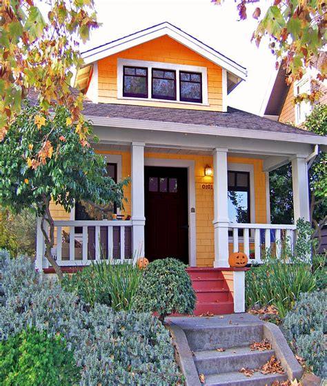 orange exterior paint color for small houses with small cottage design chocoaddicts